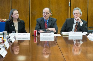 Paula Brand with DOL Secretary Thomas Perez and Acting Assistant Secretary Eric Selznow