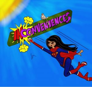 This cartoon was made by Urvi Mehta as she was learning to say no as one of her first superpowers. This cartoon is reprinted with permission by Urvi Mehta.